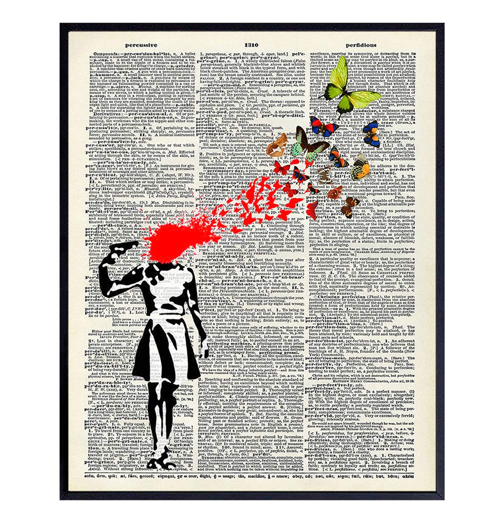 Banksy Poster Dictionary Art Home Gra - Upcycled Vintage Decor Colorado Springs Mall Charlotte Mall