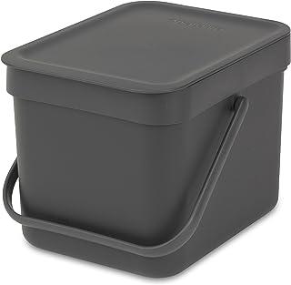 Brabantia Sort & Go Panier à déchets, Plastique, Gris, 6 L