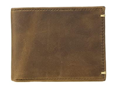 Johnston & Murphy Flip Billfold Wallet (Tan Oiled Full Grain) Bi-fold Wallet