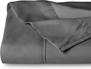 Flat Top Sheet Premium 1800 Ultra-Soft Microfiber Collection - Double Brushed, Hypoallergenic, Wrinkle Resistant, Easy Care (King - 1 Pack, Grey)