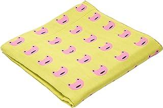 東京 西川 ガーゼケット シングル 洗える 綿100% マタノアツコ かえる のうた ふわとろ 三重ガーゼ カエル グリーン FR01701000G