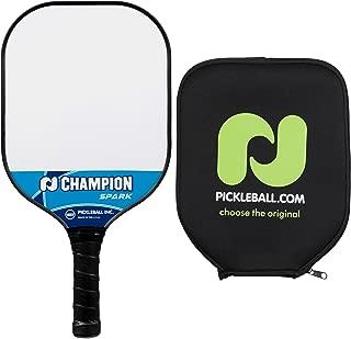 Pickle-Ball Champion Spark Pickleball Paddle | Composite Paddle | Polypropylene Honeycomb Core | Fiberglass Face | Lightweight