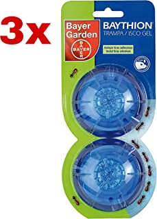 Kit 3X Bayer Garden Baythion Trampa Antihormigas En Forma De