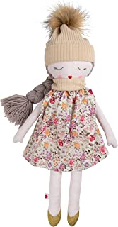 Hearts of Yarn Plush Autumn Outdoor Doll For Girls Soft Sleeping Cuddle Buddy For Toddlers, Infants and Babies 19 inches Tall Extra Large, Handmade First Baby Doll and Toy Cute Nursery Room Decor