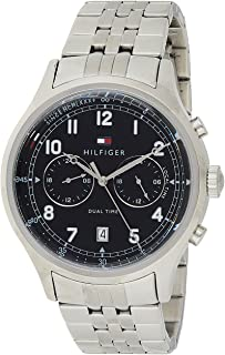 Tommy Hilfiger Mens Quartz Watch, Analog Display and Stainless Steel Strap