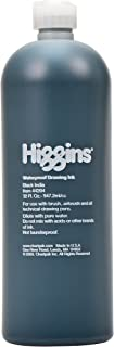 Higgins Black India Pigmented Drawing Ink, 32 Ounce Bottle (44204)