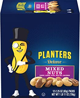 Planters Deluxe Mixed Nuts, 2.25 oz- 12 count