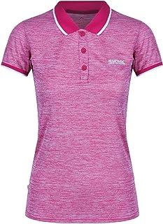 REGATTA Women's Remex II' Quick Drying Neck T-Shirts/Polos/Vests, Dark Cerise, S