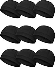 SATINIOR 9 Pieces Helmet Liner Skull Caps Sweat Wicking Cycling Hat Cooling Beanie Hat