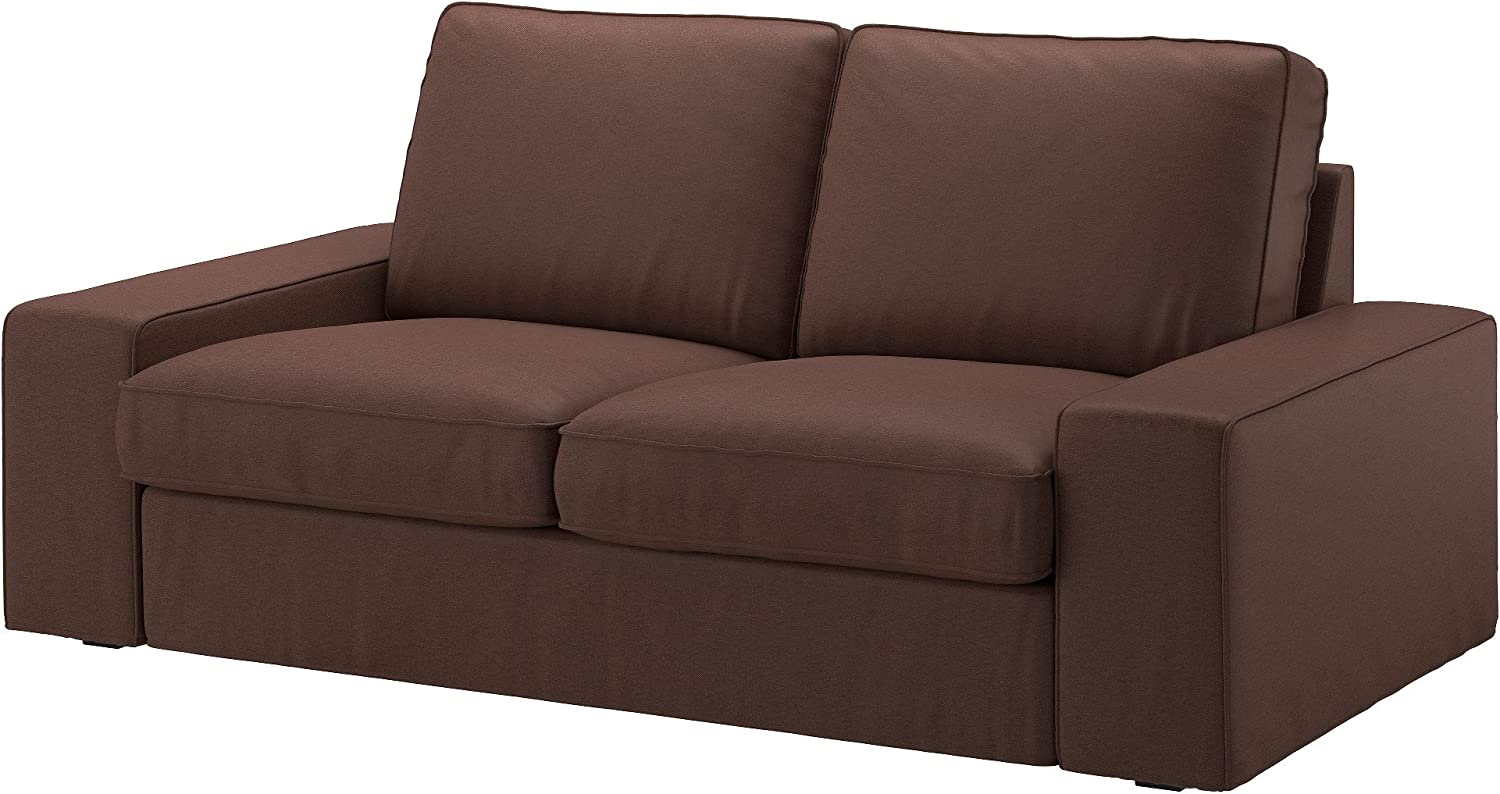 Amazon.com: IKEA Genuine Slipcover For Kivik Sofa, Loveseat And With Chaise, Borred Dark Brown (Loveseat): Kitchen & Dining