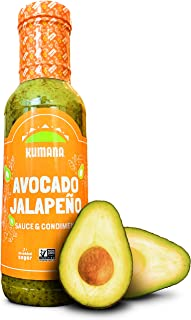 Best Kumana Avocado Jalapeño Sauce. A Keto Friendly Hot Sauce made with Ripe Avocados and Chili Peppers. Ketogenic and Paleo. Sugar Free, Gluten Free and Low Carb. 13.1 Ounce Bottle. Review