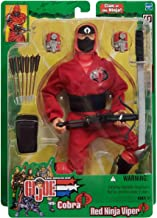 G.I. Joe vs. Cobra: Spy Troops - Cobra Red Ninja Viper 12 Inch Action Figure 1/6 Scale