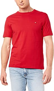 Calvin Klein Jeans Men's Ck Badge Embroidery Regular Tee, Barbados Cherry, L