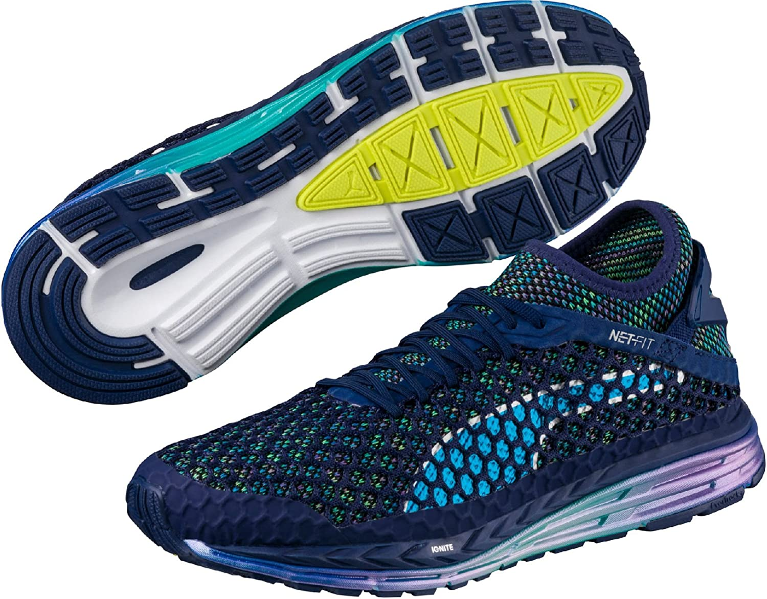 Puma Speed Ignite Netfit Champs Mens Running shoes - bluee