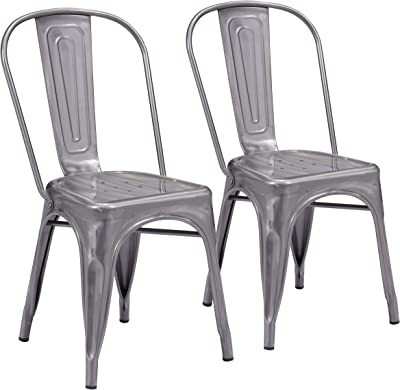 Elio Dining Chair (Set of 2) Gunmetal