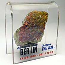 """Original Piece of The Berlin Wall - Authentic Souvenir from The Real Wall in Germany Mounted in Acrylic Display (Small (2""""..."""