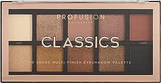 Profusion Cosmetics Mini Artistry 10 Shade Eyeshadow Palette, Classics
