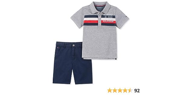 Tommy Hilfiger Juego De Pantalones Cortos Para Bebe 2 Piezas Gris Azul 6 9 Meses Amazon Com Mx Ropa Zapatos Y Accesorios
