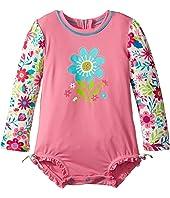 Hatley Kids - Wallpaper Flowers Rashguard (Infant)