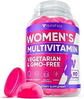 Gummy Multivitamins for Women: Vitamin D, C, A, E, B, Zinс, Folic Acid, Biotin - Perfect Women's Multivitamin for Immunity...