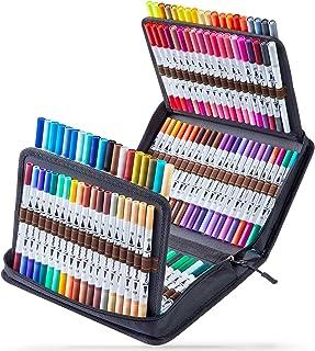 160 Couleurs Feutres Aquarelle, Ohuhu Art Double Marqueurs au Coloriage Stylo Pinceau Pointe Fine Couleur, De Marqueur À B...