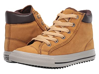 Converse Kids Chuck Taylor All-Star Boots on Mars Hi (Little Kid/Big Kid) (Wheat/Pale Wheat/Birch Bark) Boys Shoes