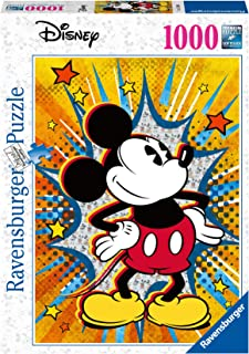 Ravensburger- Disney Puzzle rétro Mickey, 15391, Noir