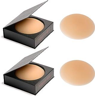 Nippies Skin ULTIMATE ADHESIVE NippleCovers Pasties & Travel Case - Caramel 2-Pack
