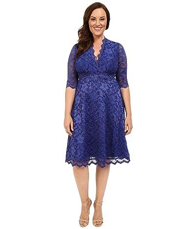 Kiyonna Mademoiselle Lace Dress (Sapphire Blue) Women