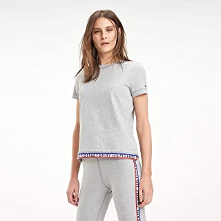Tommy Hilfiger T-Shirts For Women, Light Grey S (M11000RR_Anchor Blue_Large)