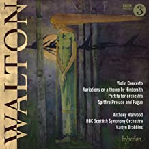 Sir William Walton : uvres pour violon. Marwood, Brabbins.