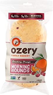 Ozery Bakery Morning Round Pita Bread, Cranberry Orange, 12.7 Ounce (Pack of 2)