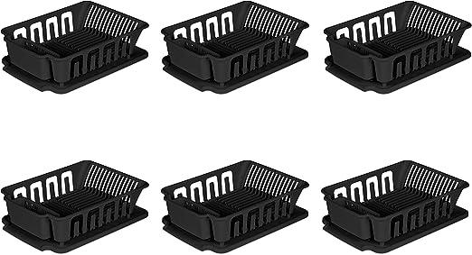Amazon Com Sterilite 2pc Large Sink Set Black 6 Pack Black Sports Outdoors