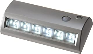 Light It! By Fulcrum, 6-LED Wireless Motion Sensor Weatherproof Security Path Light, 6.8 Inch, Battery Operated, Silver