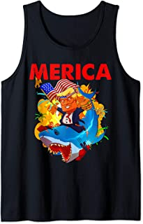 Donald Trump Merica for Women Men Kids American Flag Murica Tank Top