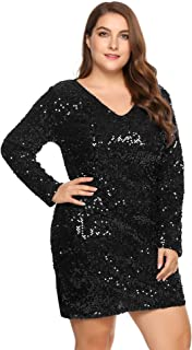 black glitter dress plus size
