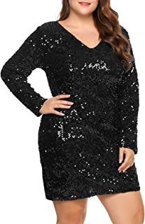 Plus Size Womens Front Kont Floral Polka Dot Plunging Mini Evening Party Dress