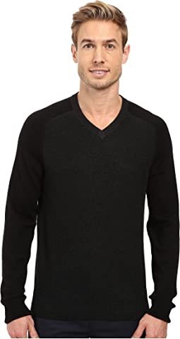 Perry Ellis - Color Block V-Neck Sweater