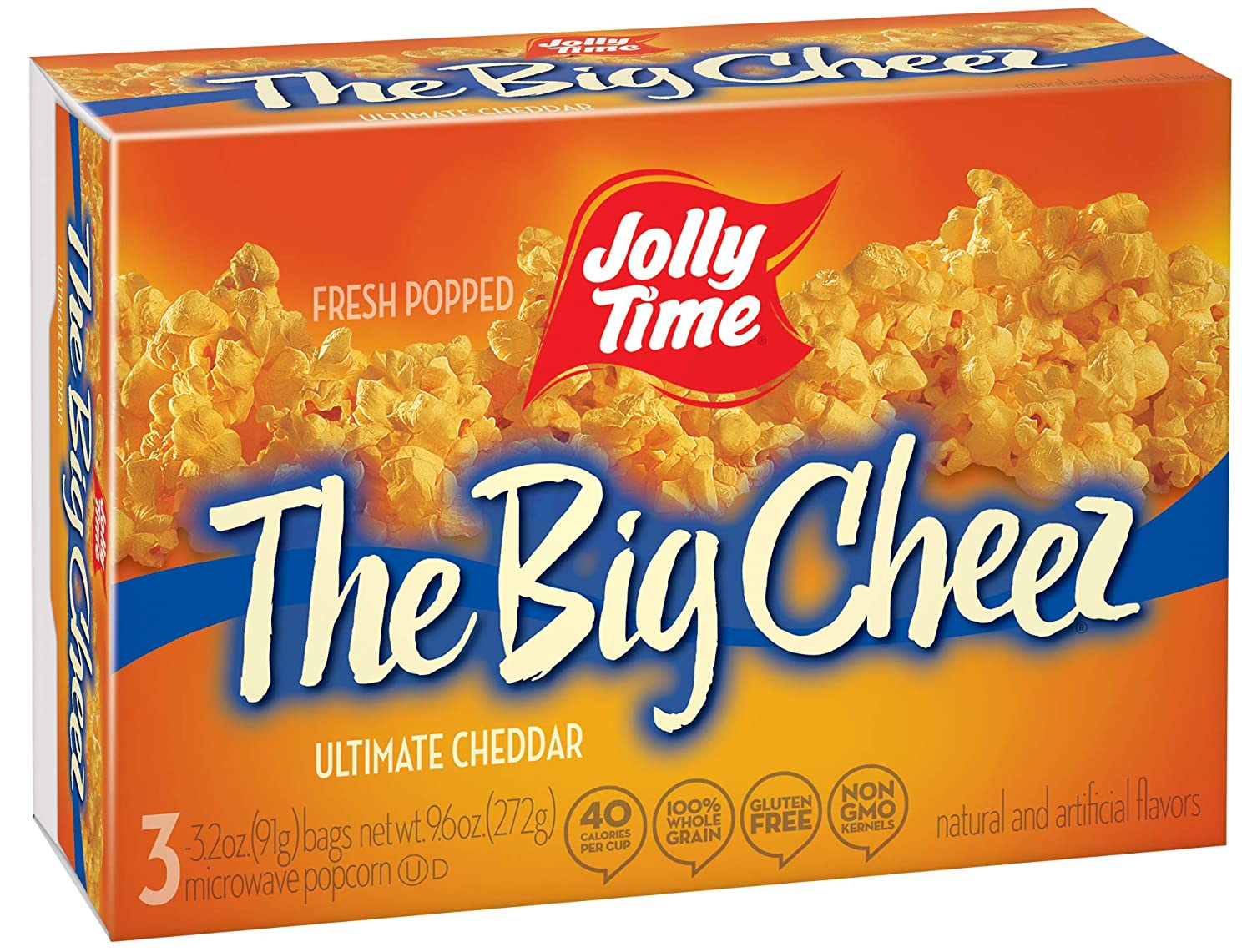 Jolly Time The Big Cheez Cheddar 3 Cou Popcorn Microwave Shipping included Cheese service