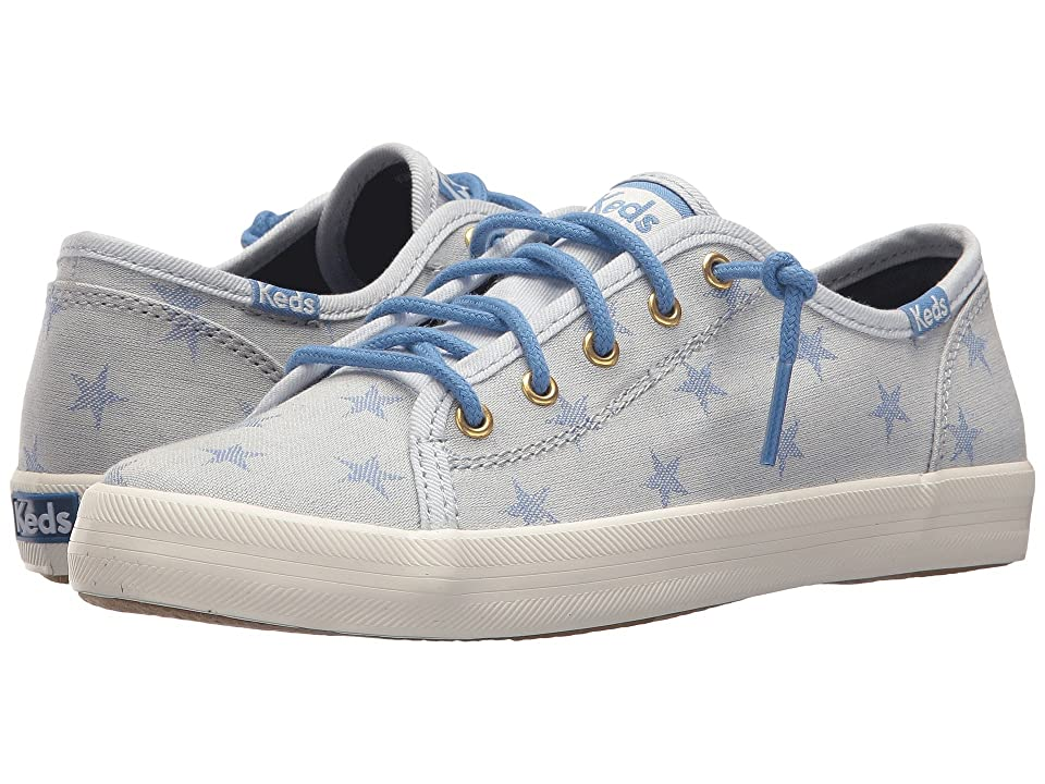 Keds Kids Kickstart Seasonal (Little Kid/Big Kid) (Star Chambray) Girl