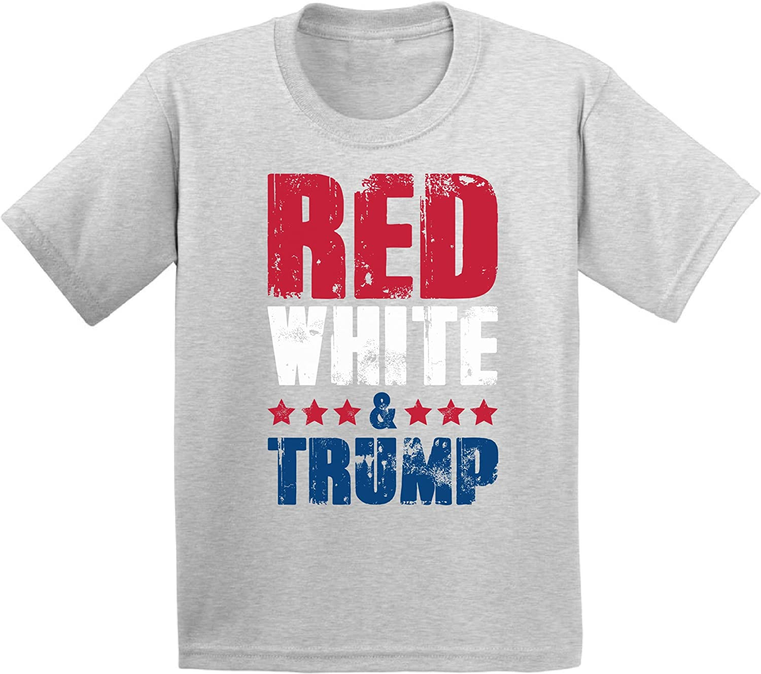 Awkward Styles Red White & Trump Kids Shirt 4th of July Toddler Tshirt Trump Gifts