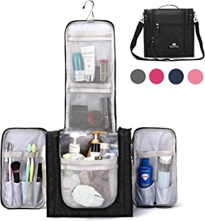 Large Hanging Travel Toiletry Bag for Men and Women Waterproof Makeup Organizer Bag washbagShaving Kit Cosmetic Bag for Accessories, Shampoo,Bathroom Shower, Personal Items Black