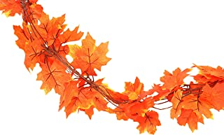 Fall Leaves Garland Decoration (10 Pack)   Each Vine 6.5ft of Beautiful Autumn Colored..
