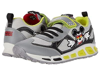 Geox Kids Shuttle 16 Mickey Mouse (Little Kid/Big Kid) (Grey/Lime) Boy