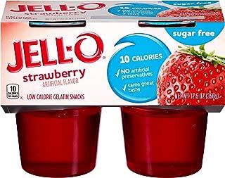 JELL-O Strawberry Sugar Free Gelatin Dessert (12.5 oz Package, 4 Cups)