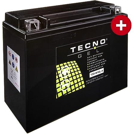 Tecno Gel Motorrad Batterie Y50 N18l A 12v Gel Batterie 20ah Din 52016 205x90x160 Mm Inkl Pfand Auto