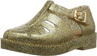 Mini Melissa Girls' Mini Aranha 79 16 Flat Sandal, Gold Glitter, 9 Regular US Toddler