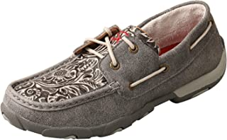 Twisted X Women's Tooled Flowers Driving Moccasins Moc Toe