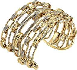 Iconic Link Pave Open Cuff Statement Bracelet
