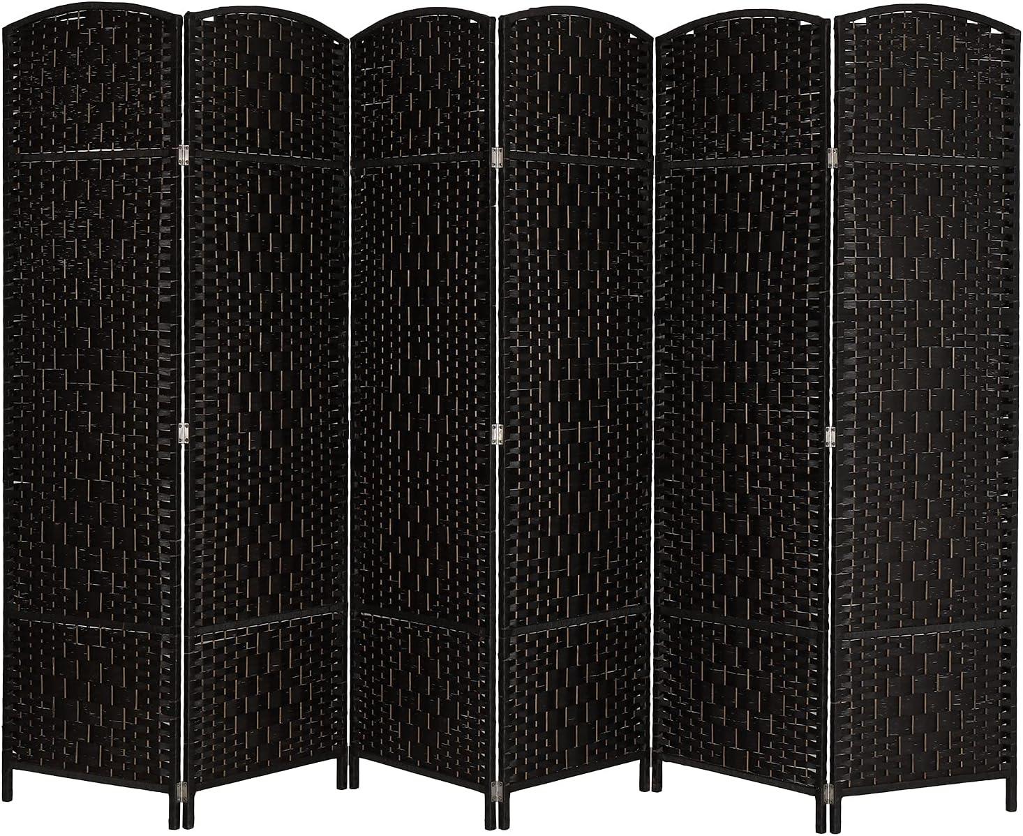 Super popular specialty store Max 55% OFF Bonnlo 6-Panel 6 FT Tall Rattan Folding Screens Divider Room Sp
